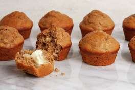 When you've had it up to here with pumpkin spice: Pear Spice Muffins.