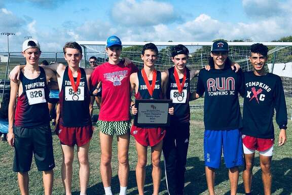 The Tompkins boys cross country team won the Elite race at the Region III Preview in Huntsville, scoring 34 points to hold off The Woodlands. Cole Lindhorst, Justin Duffy, Gavin Saacke, Adam Smith, Aidan Cremins, Bryce Wiley and Brayden Gonzalez contributed to the victory.