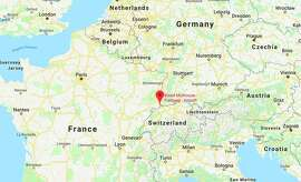 Basel-Mulhouse-Freiburg Euroairport is near the French-German-Swiss border. (Image: Google Maps)