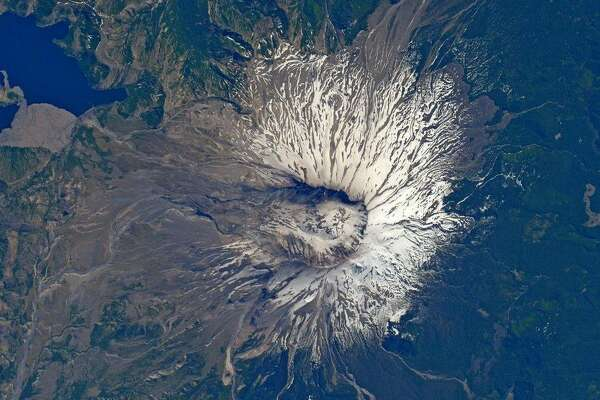ISS astronaut Jack Fischer sees a face outline in this space view of Mount St. Helens, an active volcano in Washington state in the US that famously erupted in 1980. Fischer snapped the photo in early July 2017.