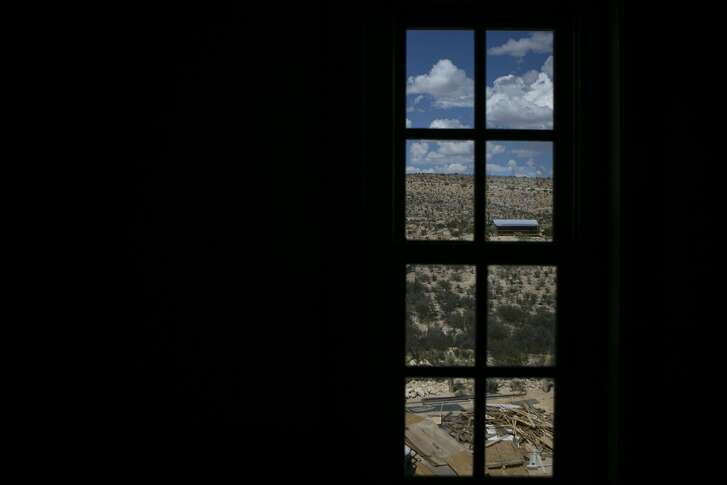 The view out the upstairs window of the Perry Mansion Terlingua, Texas, Thursday, Aug. 30, 2018. The mansion was built by Howard E. Perry, the founder and owner of the Chisos Mining Company which mined for cinnabar for the extraction of metal mercury in the early 1900s.