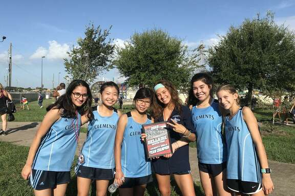 The Clements girls cross country team won the Bellaire Invitational, amassing 35 points to finish ahead of the host team. Haley Harkrider, Vania Ortiz Marquez, Rida Khan, Eleni Kaiser, Janet Lee, Alessandra Vennema and Tiffany Chang contributed to the victory.