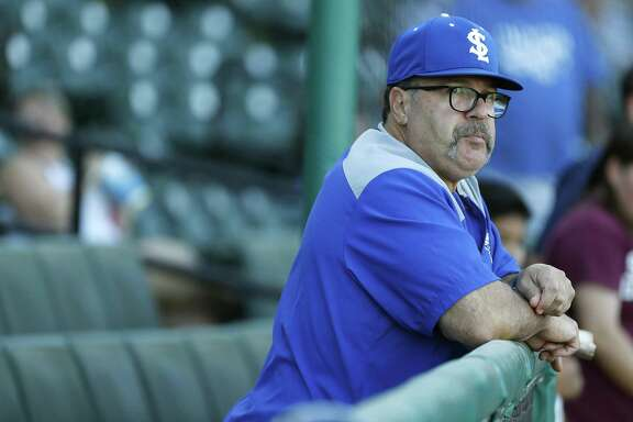 Sugar Land Skeeters manager Pete Incaviglia stands in the dugout before the start of the Sugar Land Skeeters baseball game at Constellation Field, Tuesday, June 12, 2018, in Sugar Land.