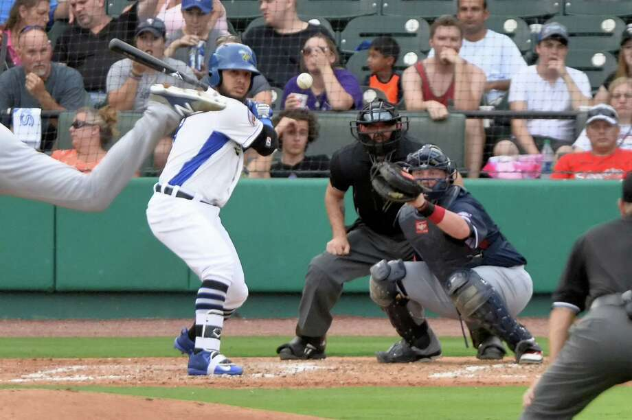 Albert Cordero (3) of the Skeeters looks at a pitch in the third inning of an Atlantic League baseball game between the Sugar Land Skeeters and the Somerset Patriots on Saturday July 29, 2017 at Constellation Field, Sugar Land, TX. Photo: Craig Moseley, Staff / Houston Chronicle / ?2017 Houston Chronicle