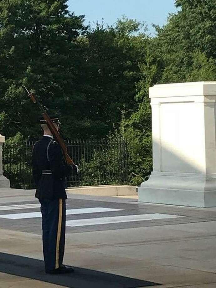A picture from the Tomb of the Unknown Soldier in Arlington National Cemetery. A group who went to Washington in August to learn more about their missing soldier loved ones also toured Arlington National Cemetery. Photo: Photo By Anita Thorne Stevens