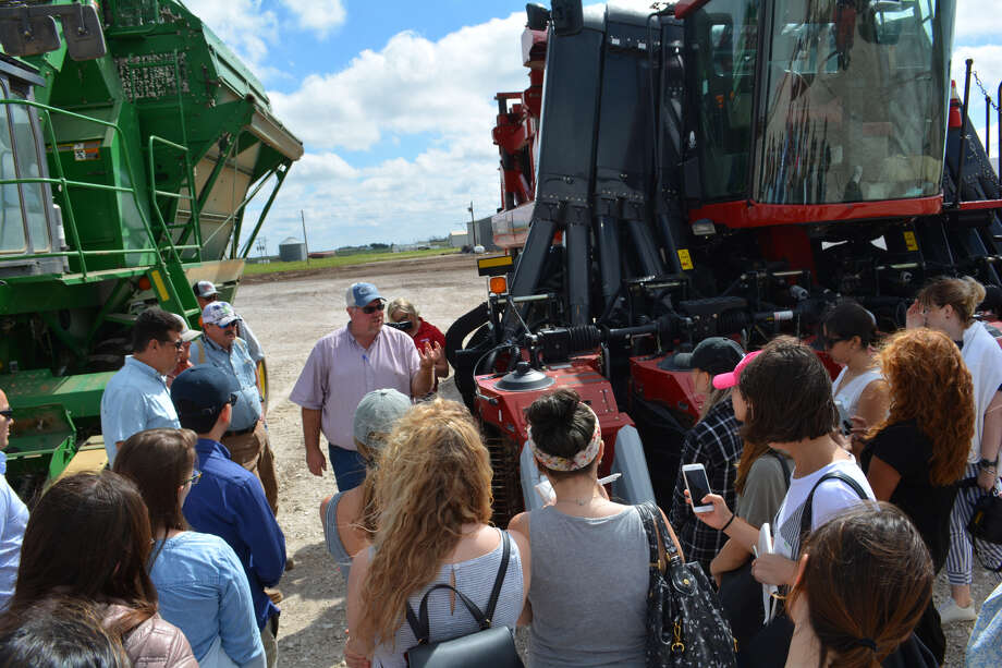 Representatives from various brands took tours of cotton fields and a cotton gin on Thursday to get a behind-the-scenes look at how cotton crops are processed. Photo: Ellysa Harris/Plainview Herald