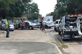 A child was hit by a vehicle near Ponderosa Elementary School on Monday afternoon.