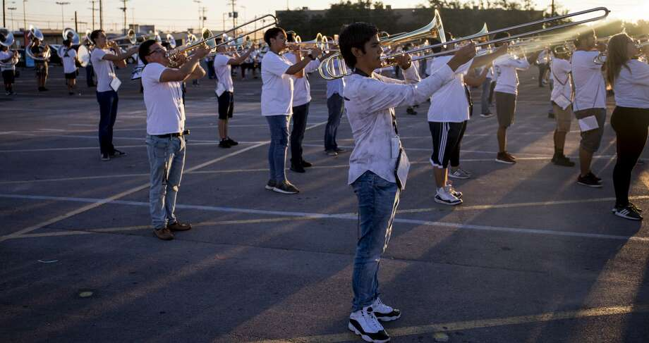 Permian high school marching band practice Thursday, 9/13/2018  Jacy Lewis/191 News Photo: Jacy Lewis/191 News