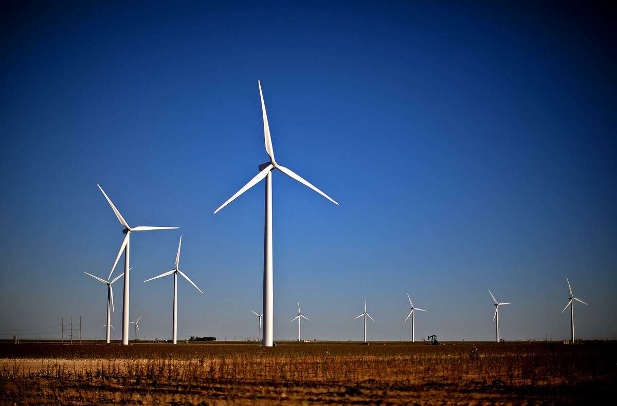 Wind turbines in action north of Stanton, Texas. Offshore wind development company Vineyard Wind LLC has its sights set on Bridgeport for its new multimillion-dollar project constructing turbines for its project off the coast of Martha's Vineyard.