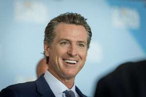 Gavin Newsom, Democratic candidate for governor of California, speaks to attendees during the Global Climate Action Summit in San Francisco, California, U.S., on Thursday, Sept. 13, 2018. The event brings together industry and political leaders working on improving the conditions and concerns facing climate in the world today. Photographer: David Paul Morris/Bloomberg