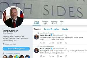Communications Director for the attorney general, Marc Rylander, shared two tweets mocking sexual assault allegations brought against U.S. Supreme Court nominee Brett Kavanaugh on Monday, Sept. 17, 2018.