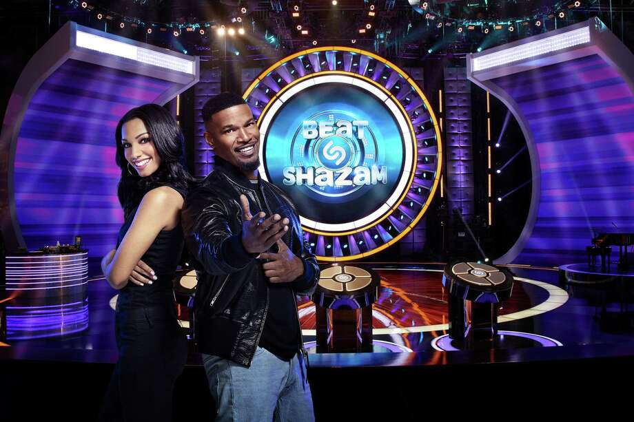 BEAT SHAZAM: Jamie Foxx hosts BEAT SHAZAM premiering Tuesday, May 29 (8:00-9:00 PM ET/PT) on FOX. L-R:  Corinne Foxx and Jamie Foxx. CR: FOX. © 2018 FOX Broadcasting Co. / © 2018 FOX Broadcasting Co.