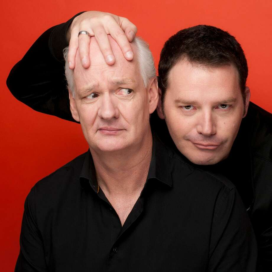 "Colin Mochrie, left, and Brad Sherwood star in ""Colin Mochrie & Brad Sherwood: Scared Scriptless,"" at Foxwoods Resort Casino, in Mashantucket, on Sept. 29, and at the Jorgensen Center for the Performing Arts, in Storrs, on Oct. 6. Photo: Jonas Public Relations / Contributed Photo"