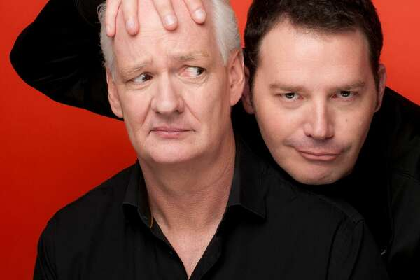 "Colin Mochrie, left, and Brad Sherwood star in ""Colin Mochrie & Brad Sherwood: Scared Scriptless,"" at Foxwoods Resort Casino, in Mashantucket, on Sept. 29, and at the Jorgensen Center for the Performing Arts, in Storrs, on Oct. 6."