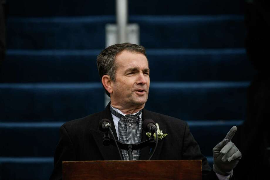 Virginia Gov. Ralph Northam speaks after taking office on Jan. 13 in Richmond. Photo: Washington Post Photo By Salwan Georges. / The Washington Post