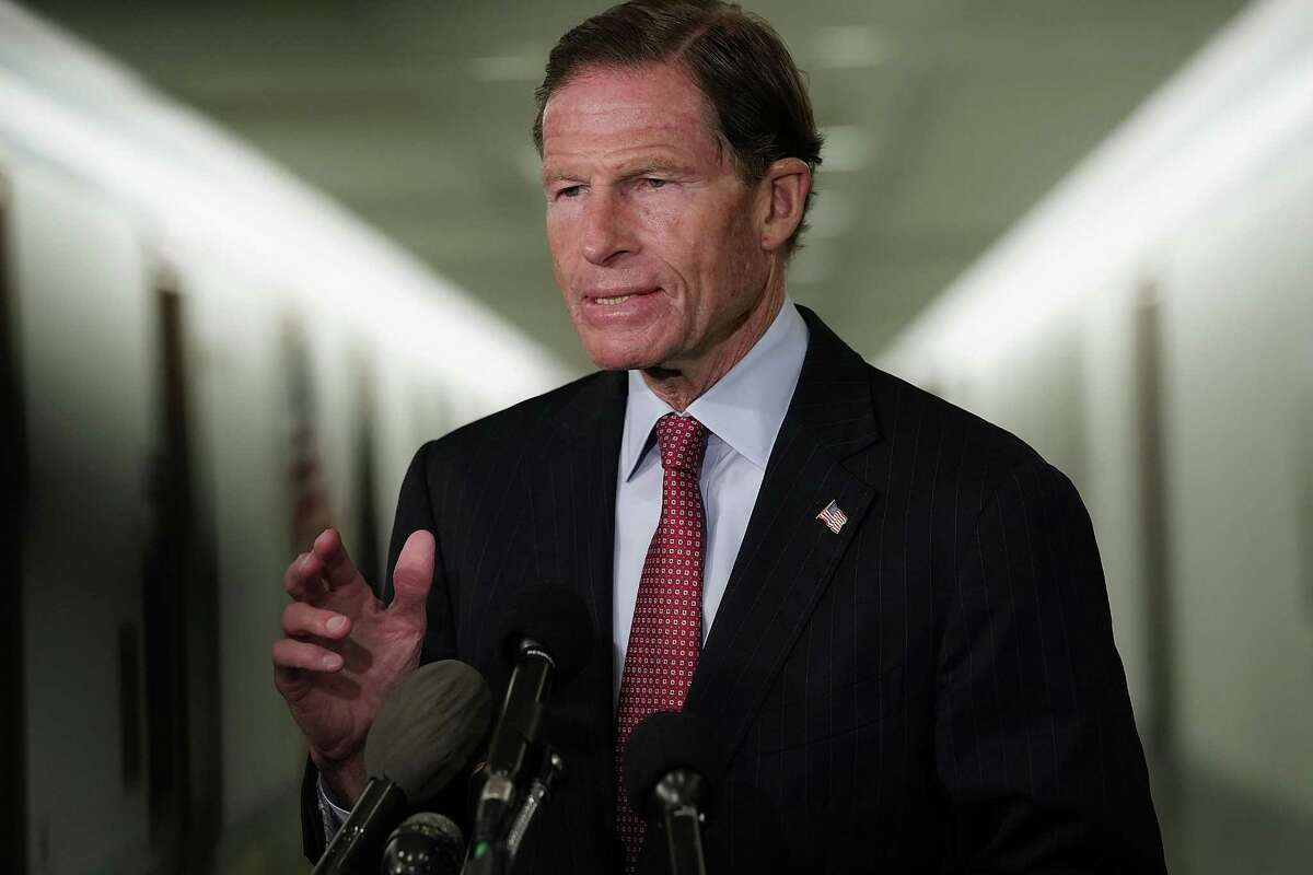 U.S. Sen. Richard Blumenthal (D-CT) arrives at a markup hearing before the Senate Judiciary Committee September 13, 2018 on Capitol Hill in Washington, DC.