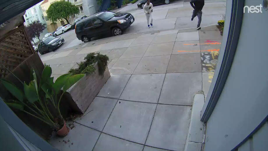 Three men involved in a mugging in Dolores Park were caught on security camera. Photo: Video Provided By Resident.