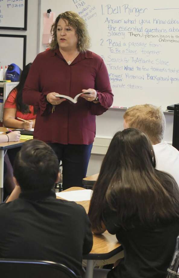 Amy Herring, Social Studies teacher at Alamo Junior High. 09/17/18 Tim Fischer/Reporter-Telegram Photo: Tim Fischer/Midland Reporter-Telegram