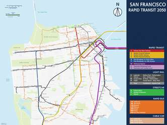 Sf Subway Map.Imaginative Maps Show What Bay Area Transit Could Look Like In 2050