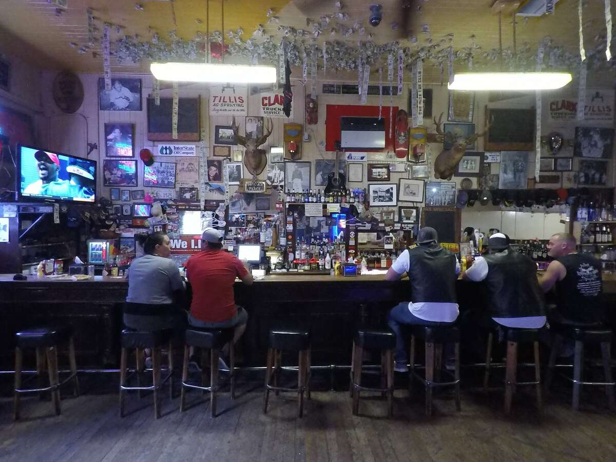 The interior of Al's Place (also known as Al the Wop's) in the historical Chinese town of Locke. The quirky bar and restaurant is a popular pitstop for bikers.