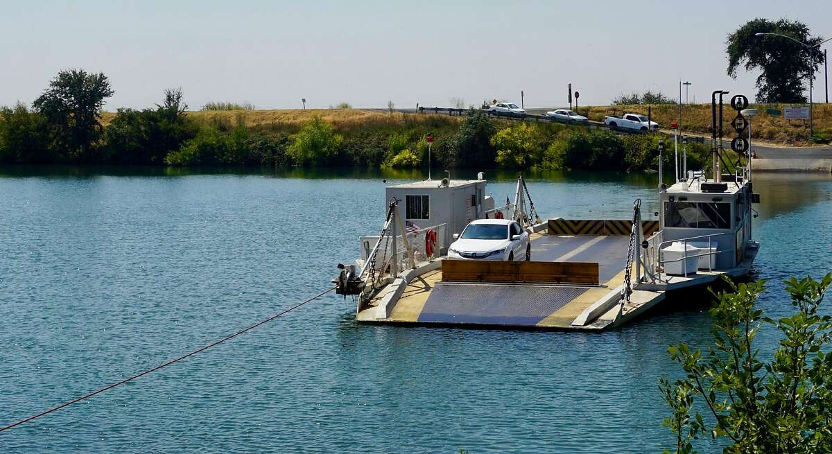 The J-Mack Ferry crosses Steamboat Slough in the Sacramento Delta.The 400-foot ride to East Ryer Island takes about three minutes.