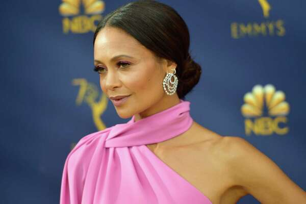 LOS ANGELES, CA - SEPTEMBER 17: Thandie Newton attends the 70th Emmy Awards at Microsoft Theater on September 17, 2018 in Los Angeles, California.