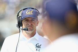 BERKELEY, CA - SEPTEMBER 01:  Head coach Justin Wilcox of the California Golden Bears stands on the sidelines during their game against the North Carolina Tar Heels at California Memorial Stadium on September 1, 2018 in Berkeley, California.  (Photo by Ezra Shaw/Getty Images)
