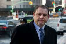 Joseph Percoco, a former aide to New York Gov. Andrew Cuomo, arrives at federal court for his corruption trial, Thursday, March 8, 2018, in New York. Jurors had announced on Tuesday that they were deadlocked but the judge asked them to return Thursday to deliberate in the trial of Percoco and three businessmen. (AP Photo/Mark Lennihan)