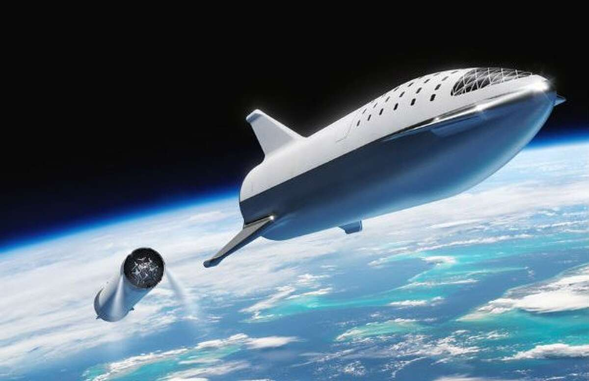 Elon Musk is building a massive rocket prototype in Texas.  SpaceX plans to use Starship to send people around the moon, to Mars, and on uber-fast international flights by way of space. >>> Click through to see more on Elon Musk's Starship.