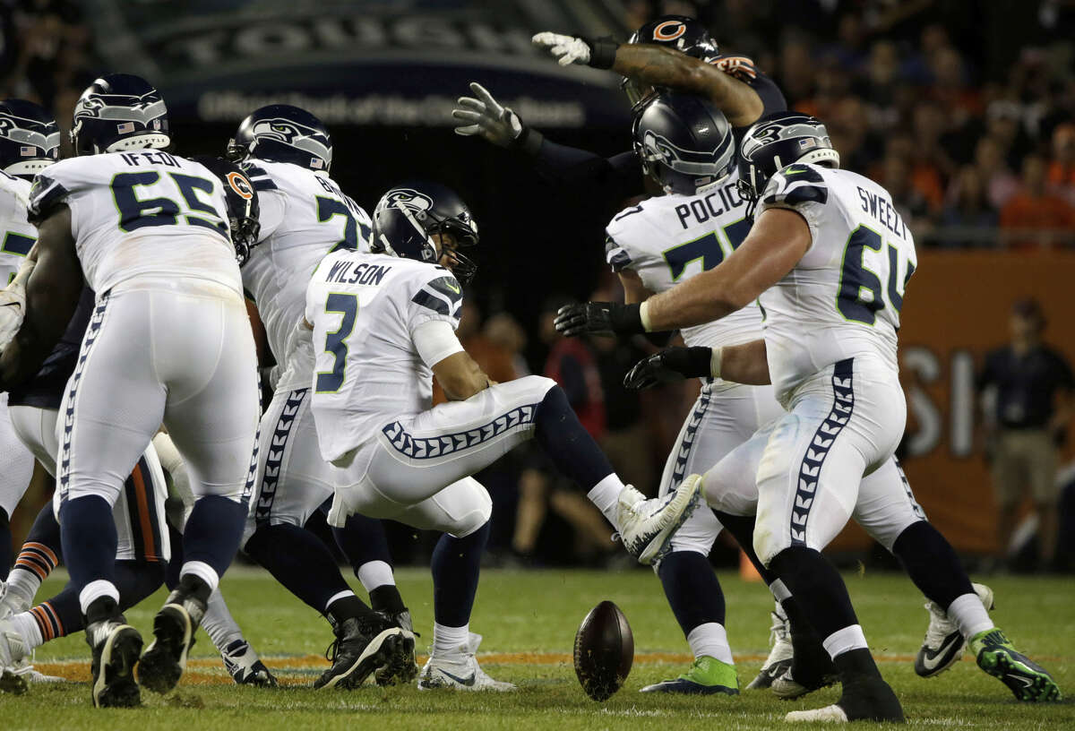 COSTLY MISTAKES FROM RUSS  Russell Wilson threw just the second pick-six in his career in Monday's loss (the 49-yard score from Prince Amukamara) and was strip sacked late in the fourth quarter by Danny Trevathan. The biggest takeaways weren't the mistakes, necessarily, but the timing at which they happened.  Wilson is known as one of the most clutch quarterbacks in the NFL (He led the league in fourth-quarter passing TDs last season) so for those mishaps to happen late in the contest, with a comeback on the line, was very uncharacteristic.  Apart from the late mishaps, it seemed like some of the sacks that occurred earlier in the game were Wilson's fault, too.  Early in the second quarter, Wilson held the ball too long and got sacked at the Seahawks' own one yard line -- a difficult situation to pull out of. It happened again later in the period when he didn't let the ball fly and got strip sacked by Mack.