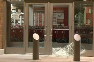 Burglars smashed the windows of a Target store on Sam Houston Parkway and Pearland Parkway on Tuesday, Sept. 18, 2018.