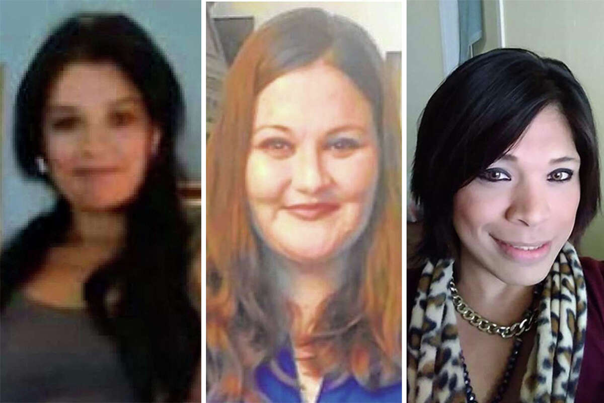 Ortiz is accused of killing four women From left to right: Melissa Ramirez, 29, Claudine Luera, 42 and Humberto Ortiz, 28. The identity of the fourth victim has not been released.