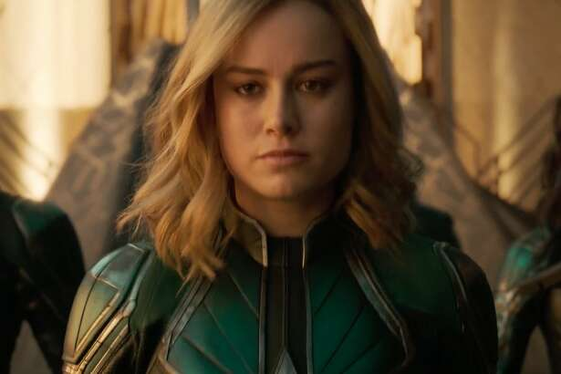 """Marvel Studios The first trailer for """"Captain Marvel"""" debuted Tuesday on Good Morning America. The trailer sets up a young Nick Fury's (Samuel L. Jackson) first meeting with Carol Danvers, a.k.a. Captain Marvel (Brie Larson)."""