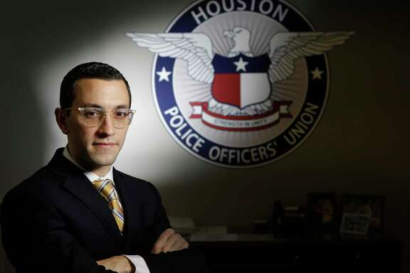 Joe Gamaldi, the incoming Houston Police Officers Union president, is shown in his office Monday, Dec. 18, 2017, in Houston. ( Melissa Phillip / Houston Chronicle )