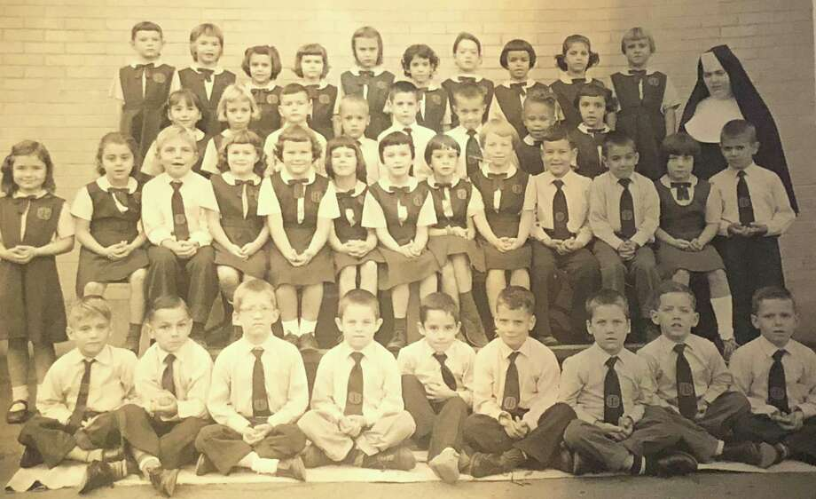 "Schools in the Greater New Milford area are back in session at public and private schools. One of the former New Milford schools was St. Francis Xavier School near the top of the Village Green. The school offered grades one through eight. Above, in this 1960 photograph, is the first-grade class at the St. Francis Xavier School. From left to right, in front, are Michael Cass, John Deak, Gregory Hume, John Fox, Harold Dunning, Michael Foster, Jeffery Narum, Scott Martina and Leon Yarrish; second row, Marita Martin, Donna Hallecks, Michael Kostes, Joy Bell, Donna Baske, Patty Dupill, Eileen Reese, Angela Onorato, Janet Knowles, Kevin Lynch, Steven Adams, Cathy O'Brien and Gerald Cowan; third row, Nanette Gonzalez, Carol Coughlin, Richard Begnoche, Michael Robinson, unknown, unknown, Mary Lee, Diana Tencza and Sister Marita Joseph; and in back, Katie Golembeski, Mary Jo Ploch, Karen Lebel, Patty Weber, Patty Farrell, Karen Barrett, Paula D'Alton, Laura Matoes, Gwenyth Durling and Christine Ognan. If you have a ""Way Back When"" photograph you'd like to share, contact Deborah Rose at drose@newstimes or 860-355-7324 Photo: Courtesy Of Carol Coughlin McKay / The News-Times Contributed"