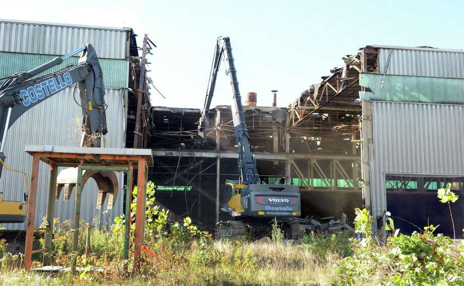 Demolition of the old Century Brass mill in New Milford began in October 2016. Photo: Carol Kaliff / Hearst Connecticut Media / The News-Times