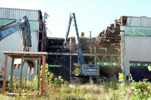Demolition of the old Century Brass mill in New Milford began in October 2016.