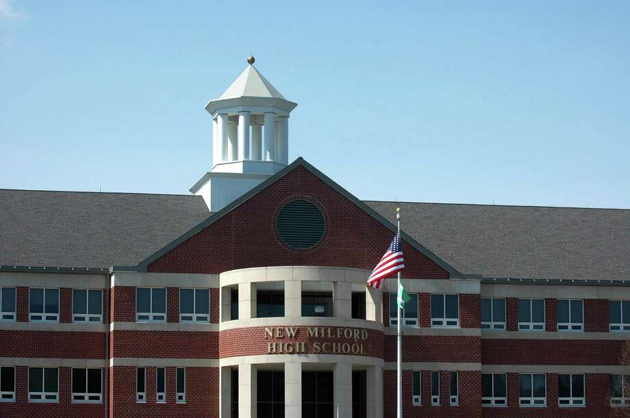 The roof at New Milford High School is losing shingles and leaking and the town will spend $200,000 to patch it. Photo: Cathy Zuraw / ST / Connecticut Post