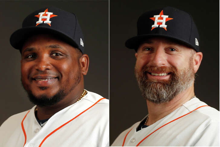 Rodney Linares (left) and Morgan Ensberg won't return to the Astros system in 2019.