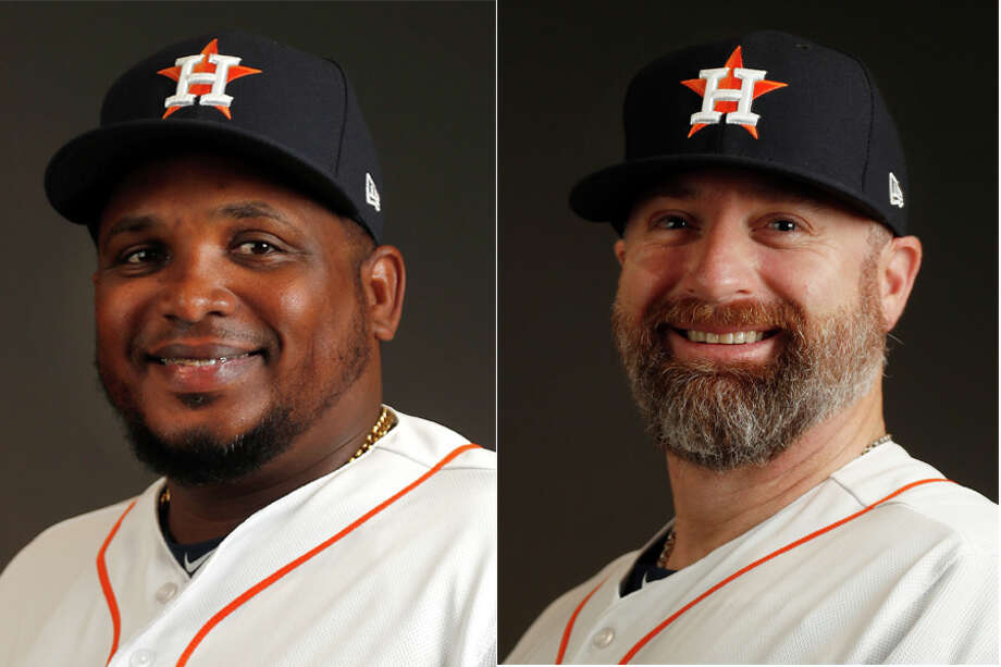 Rodney Linares (left) and Morgan Ensberg won't return to the Astros system in 2019. Photo: Karen Warren / Staff Photographer