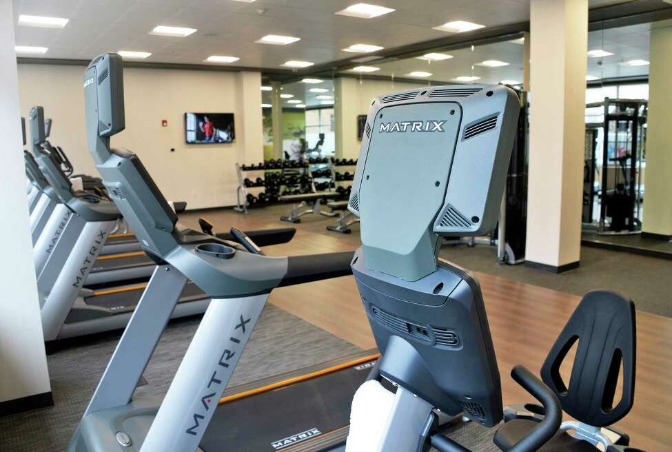 Fitness center at the new Courtyard by Marriott hotel on the banks of the Hudson River Tuesday Sept. 18, 2018 in Troy, NY. (John Carl D'Annibale/Times Union)