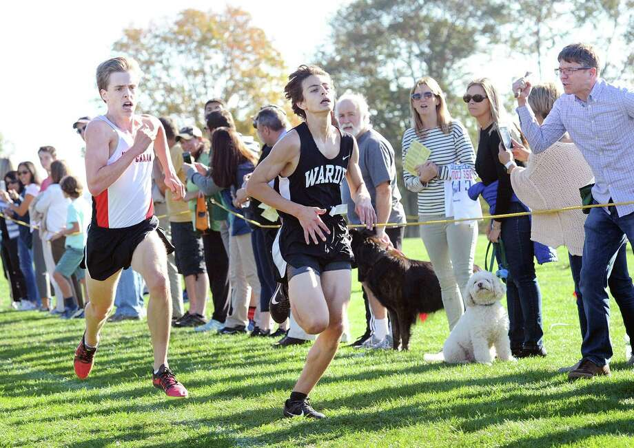 Warde's Noah Igram is expected to be a key factor for the Mustangs as they begin the 2018 cross country season. Photo: Bob Luckey Jr. / Hearst Connecticut Media / Greenwich Time