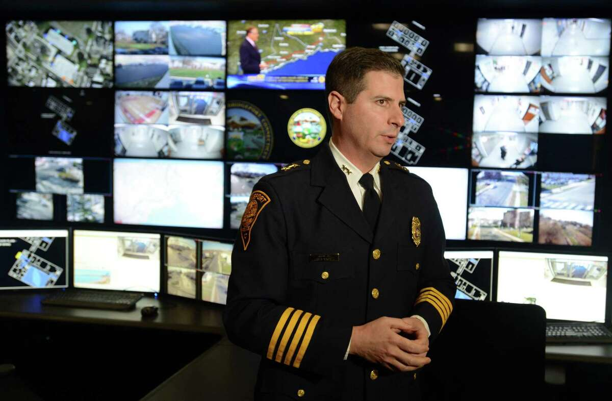 Former Assistant Police Chief James Nardozzi talks about the city's new BSAFE Video Security Command Center at the Margaret Morton Government Center in 2015. Nardozzi confirms he applied for the job to be Bridgeport's police chief.