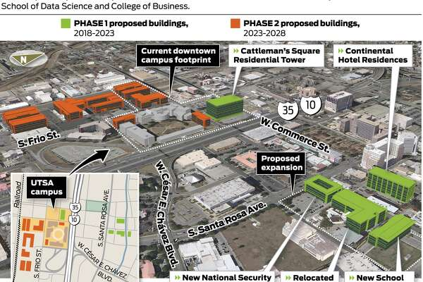UTSA plans downtown growth on city and county land