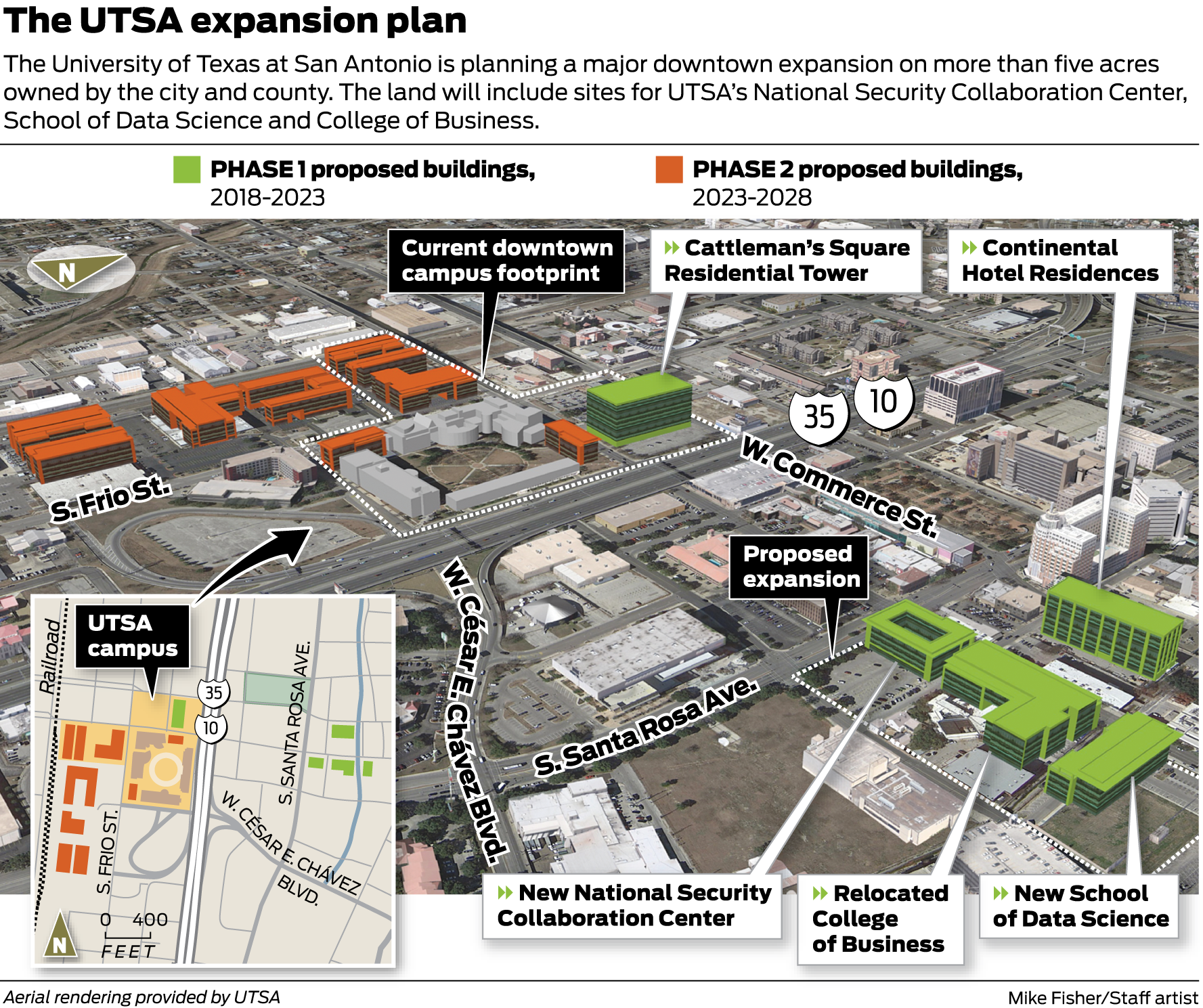 Utsa Plans Downtown Growth On City And County Land Expressnews Com
