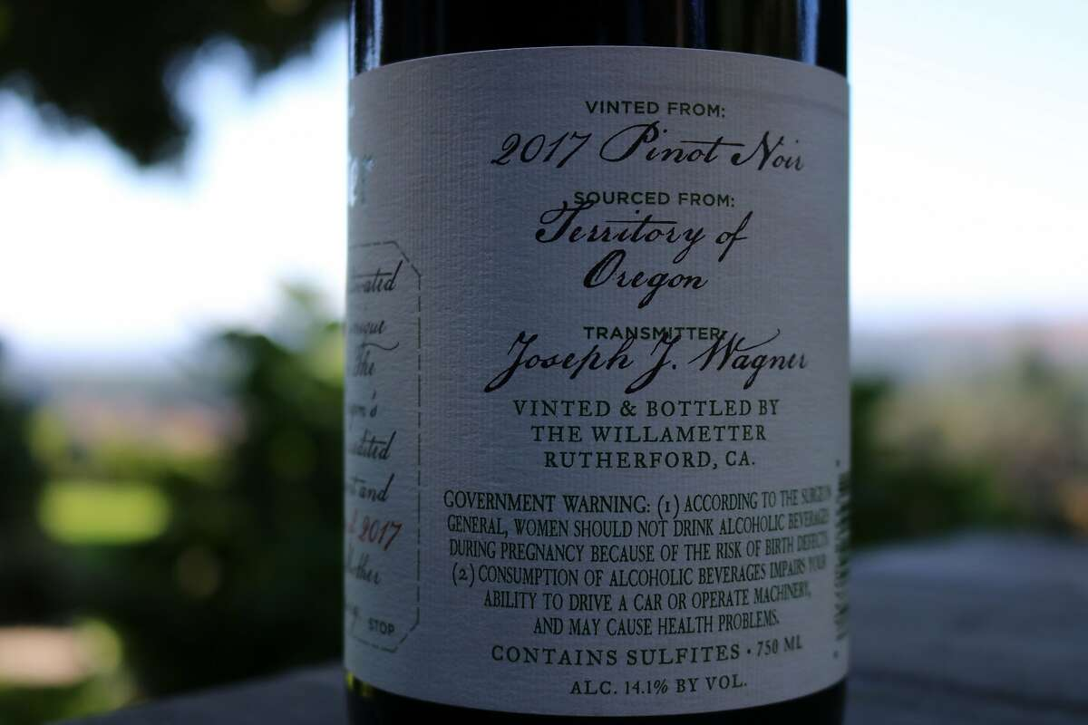 The Willametter Journal Pinot Noir identifies its source as the
