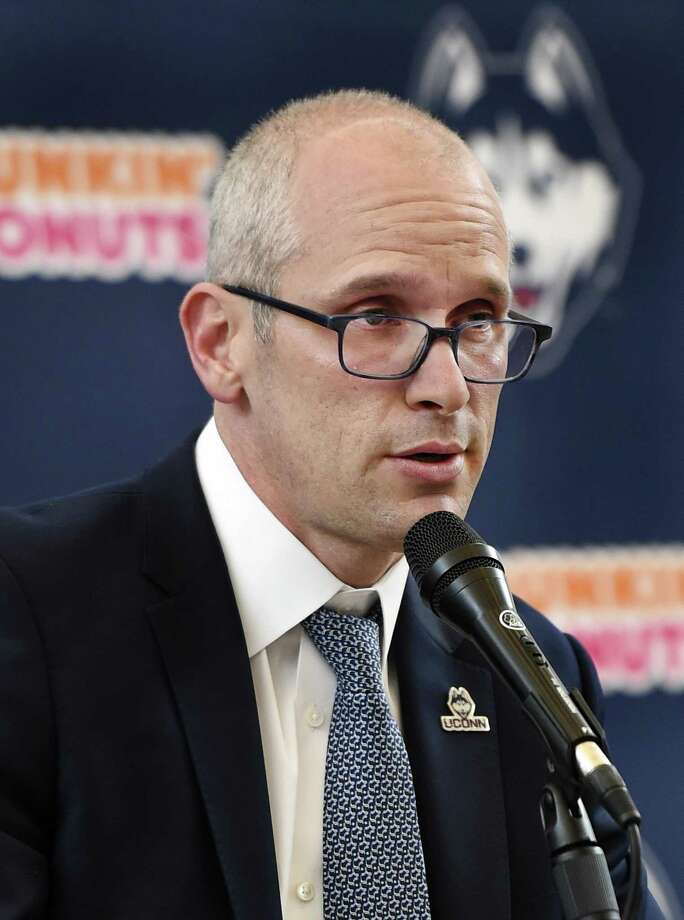 UConn men's basketball coach Dan Hurley has secured his first 2019 recruit as guard James Bouknight committed to the Huskies. (AP Photo/Stephen Dunn) Photo: Stephen Dunn / AP / FR171426 AP