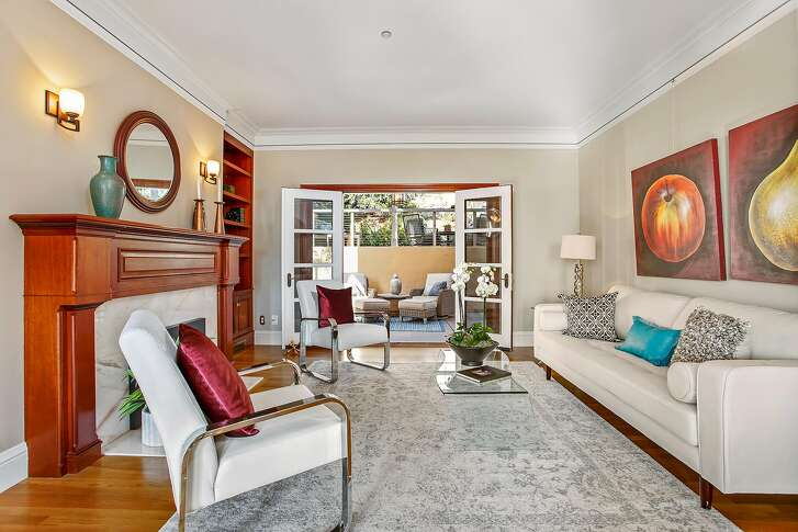 French doors off the living room open to a patio at 5200 Proctor Ave. in Upper Rockridge.�