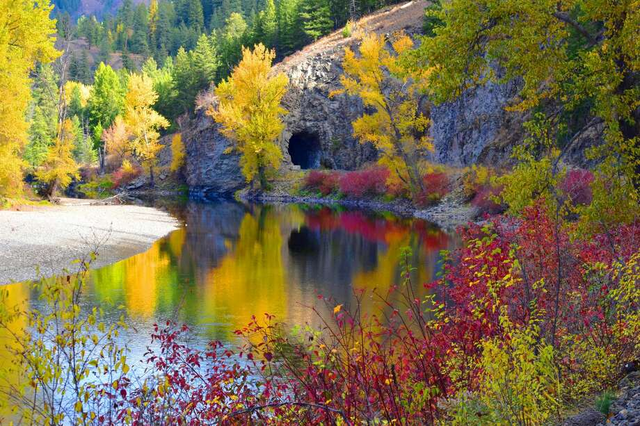 Fall colors are seen along the Kettle River trail in Eastern Washington's Ferry County. This section was closed due to washout, but was expected to reopen before the end of September. Photo: Courtesy Foster Fanning