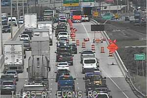 I-35 at Evans Road about 3 p.m. Tuesday, Sept. 18, 2018.